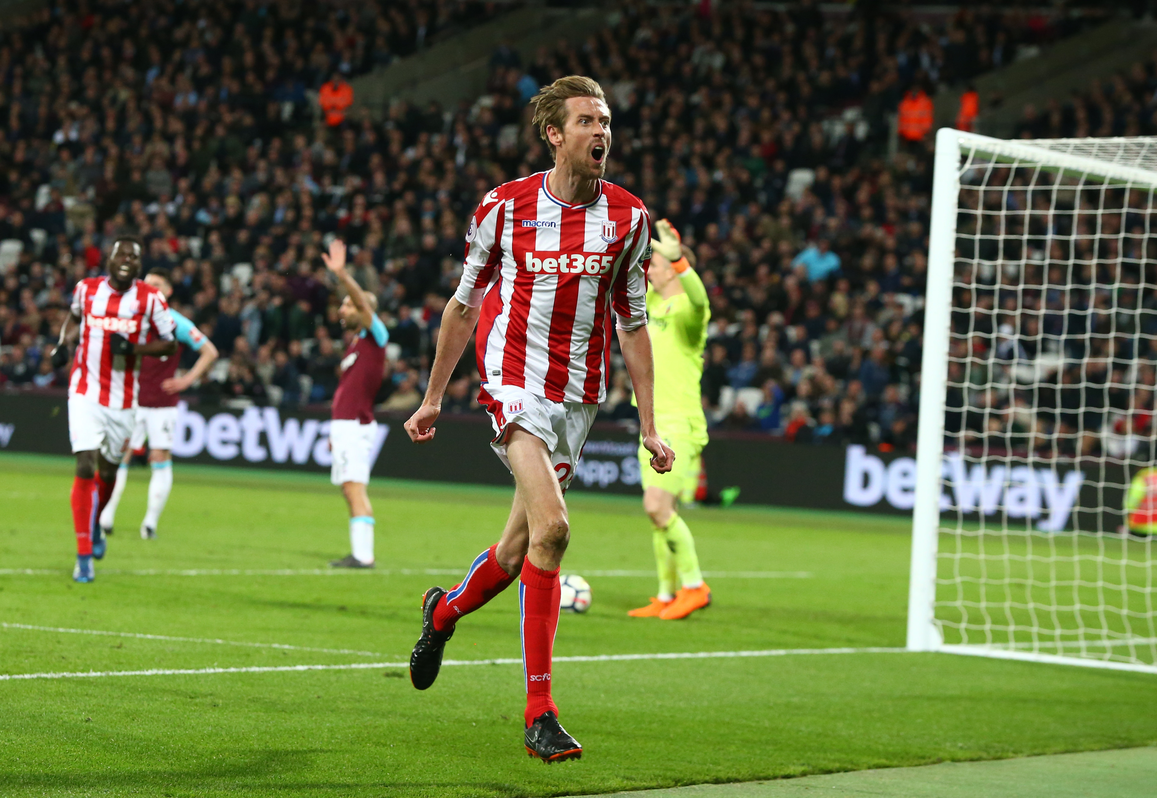 Crouch only scored five Premier League goals last season. Image: PA Images
