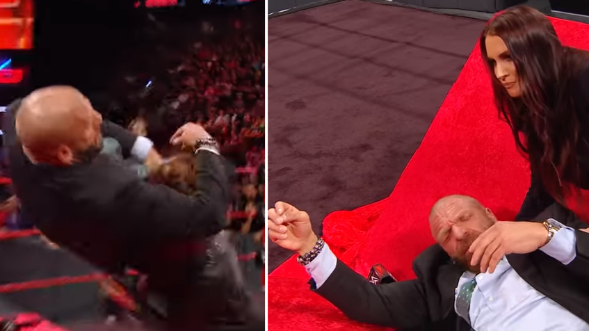 Ronda Rousey Throws Triple H Through A Table During Contract Signing