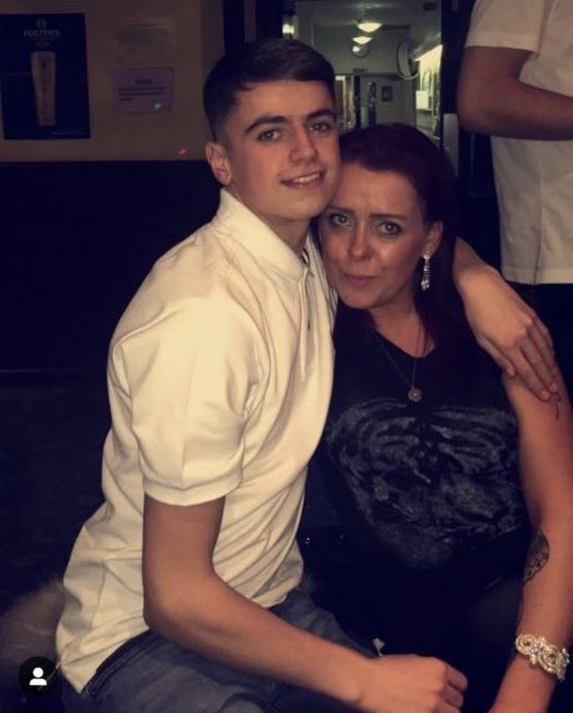Brogan with his mum. Credit: Jam Press
