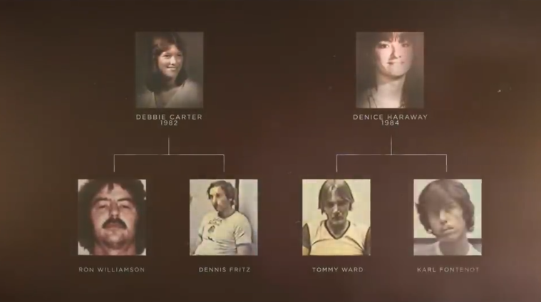 The documentary looks at Debbie Carter's and Denice Haraway's murders. (Credit: Netflix)