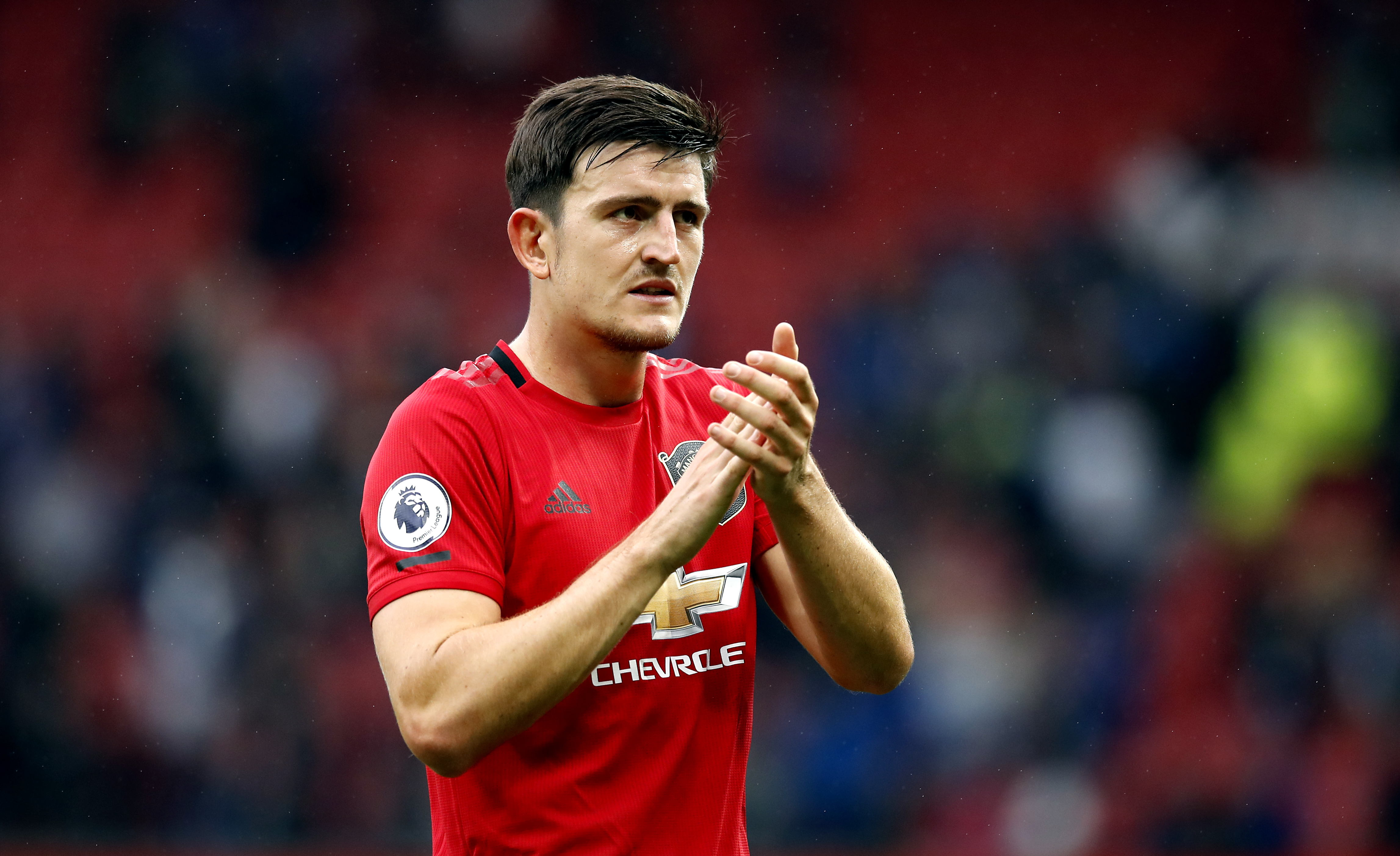 Harry Maguire was named man of the match on Sunday at Old Trafford