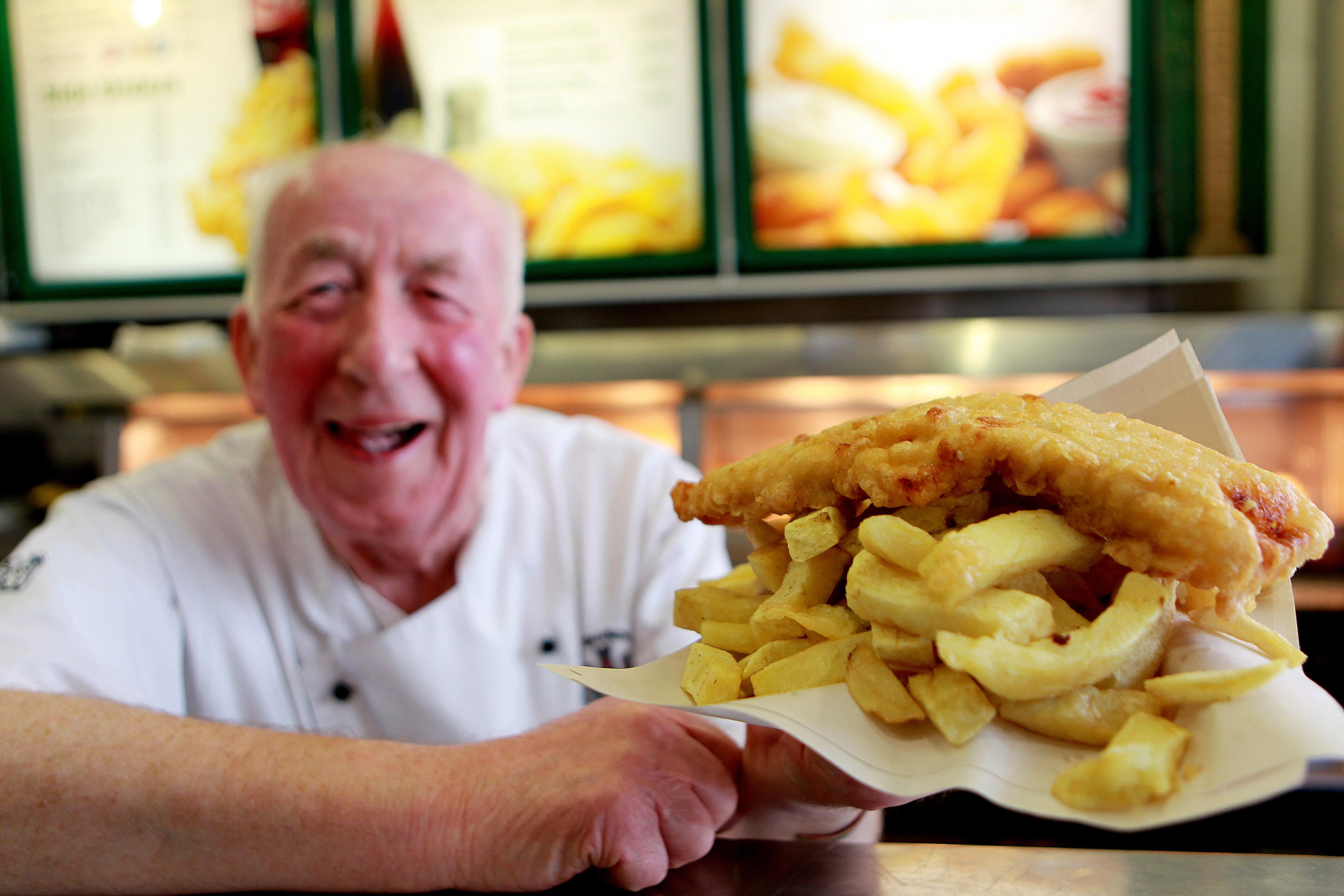 Unlucky, Mr Fish and Chips man. Credit: PA