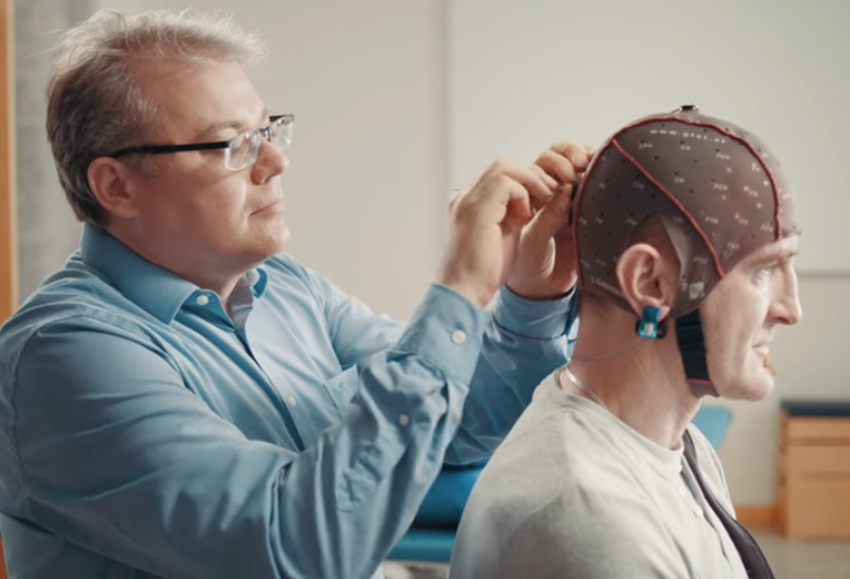 The headset has been designed to help people suffering with physical disabilities. Credit: Samsung