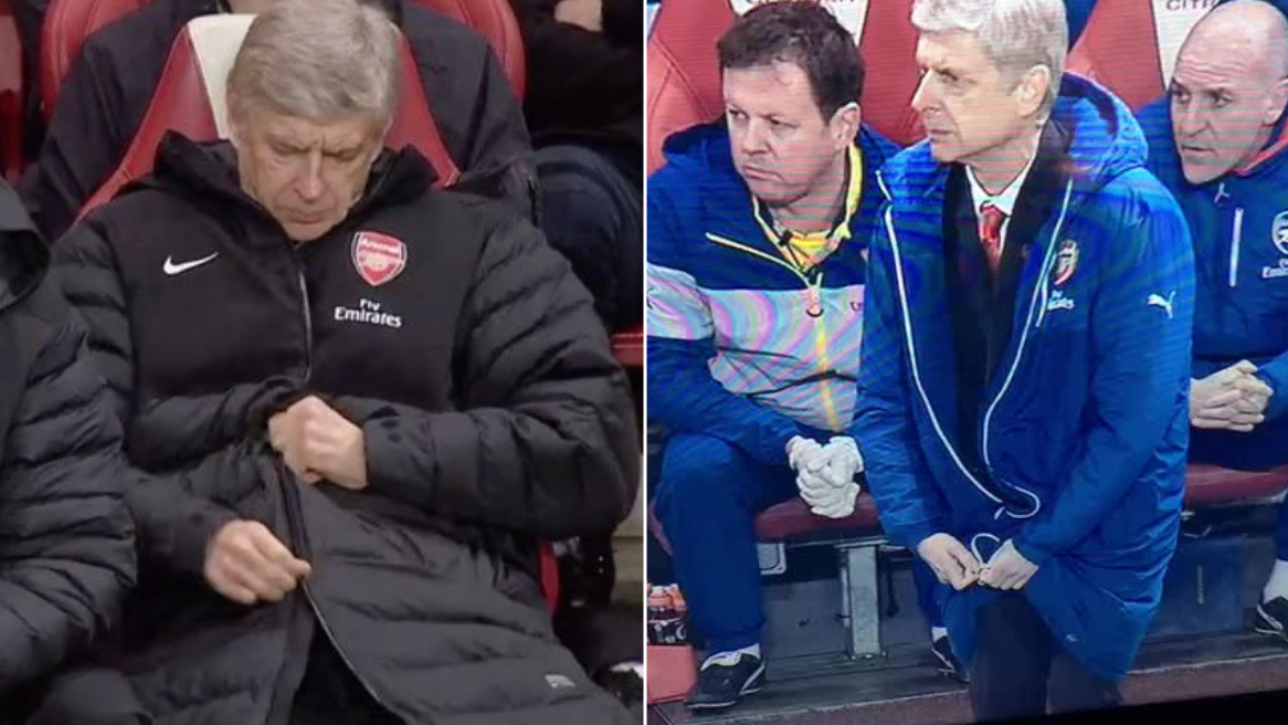 The Compilation Of Arsene Wenger Struggling To Zip His Coat Will Never Get Old