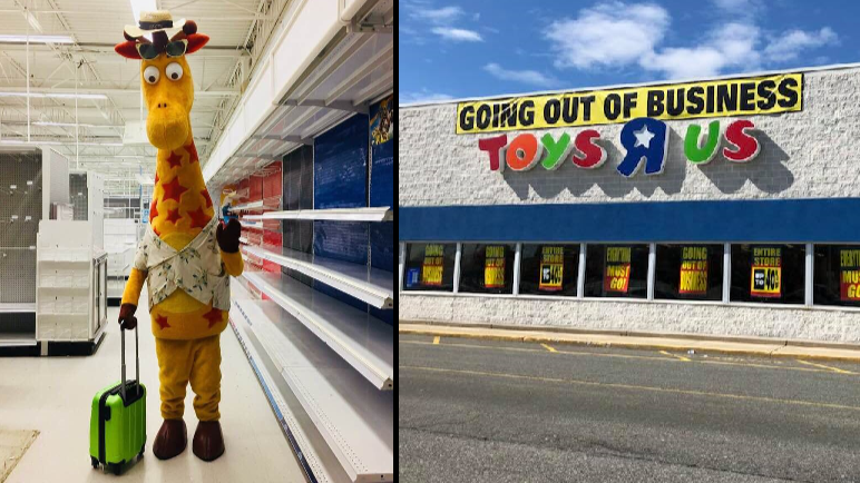 Photo Of Geoffrey The Giraffe Leaving Toys R Us Is Heartbreaking Ladbible