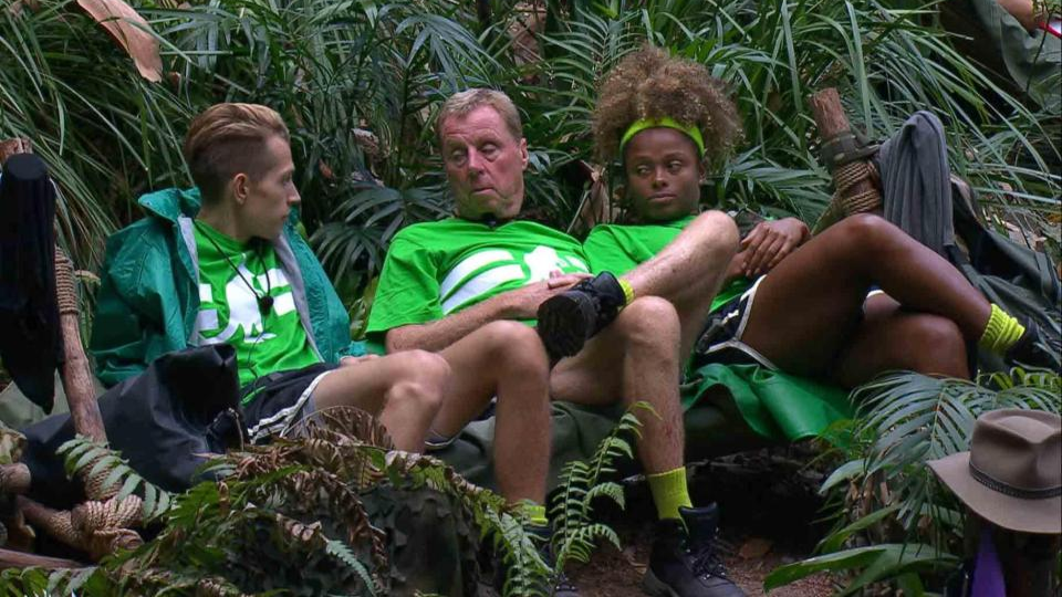 James McVey Has Been Giving Half His Food To Harry Redknapp On I'm A Celeb