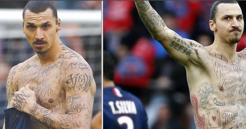 Zlatan Ibrahimovic S Full Back Tattoo Is The Most Zlatan Ibrahimovic