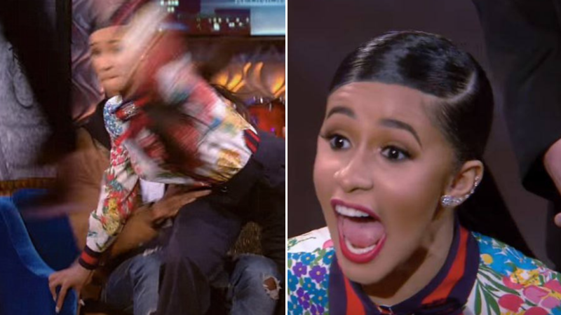 73728033f9f Footage Of Cardi B Throwing A Shoe Resurfaces After Nicki Minaj