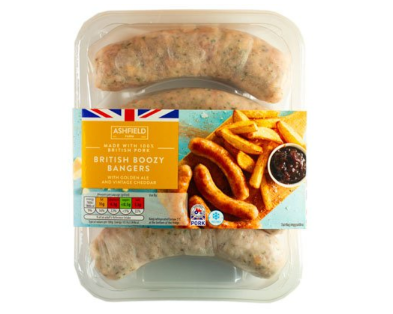 The boozy sausages have come just in time for summer. Credit: Aldi