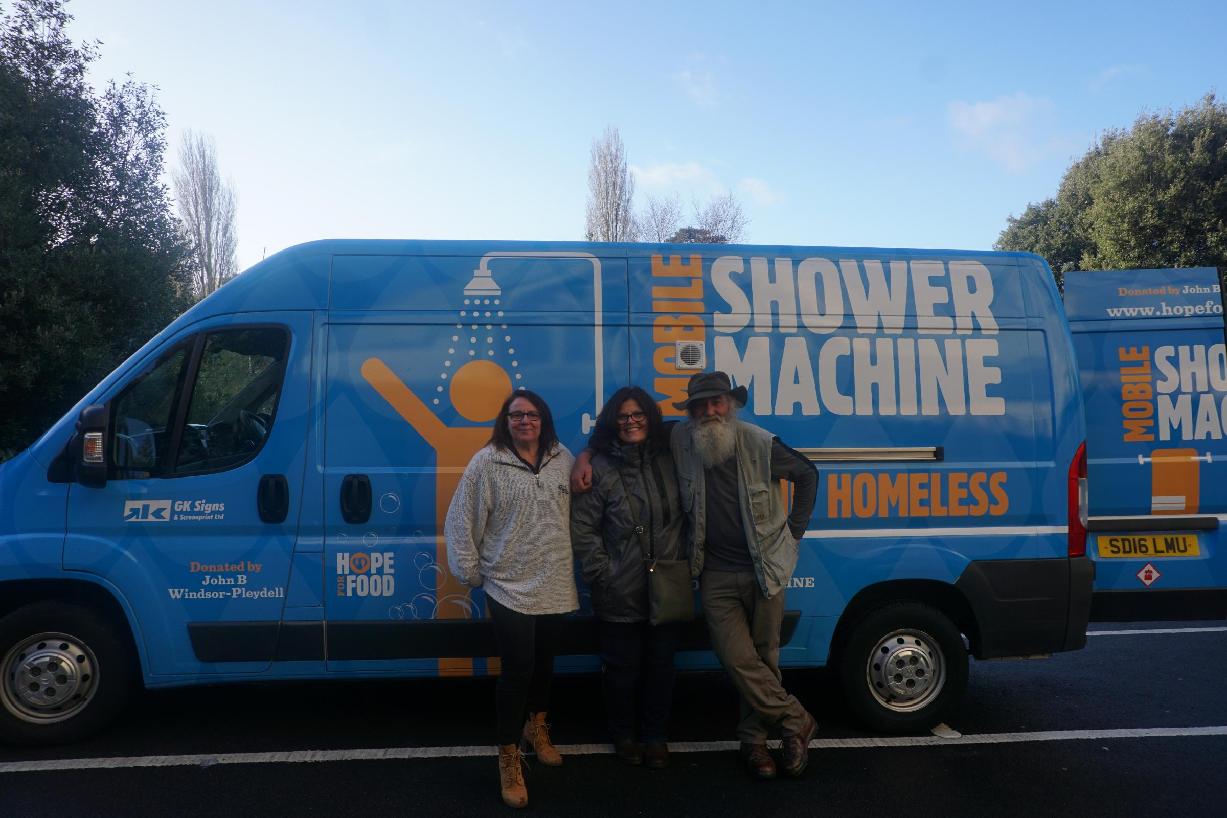 'The Shower Machine' will enable homeless people to wash while they clean their clothes. Credit: Bournemouth Echo