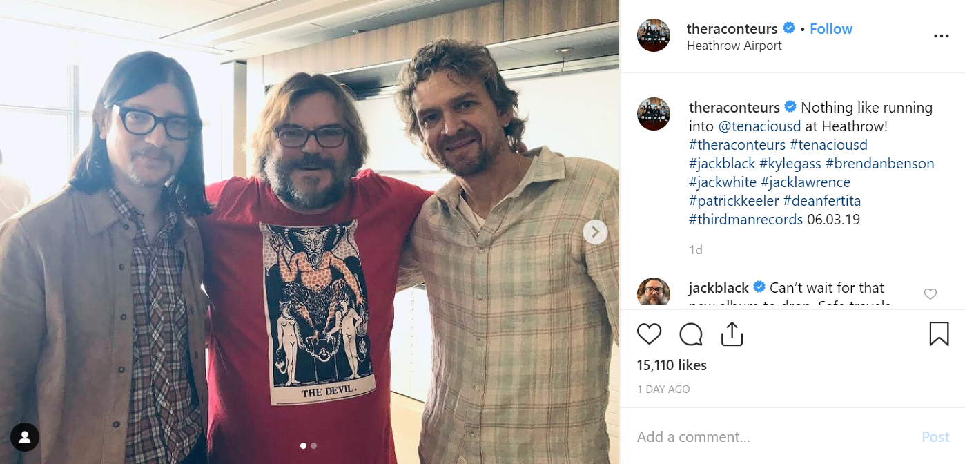 Tenacious D and The Raconteurs both recently performed in London. Credit: Instagram/The Raconteurs