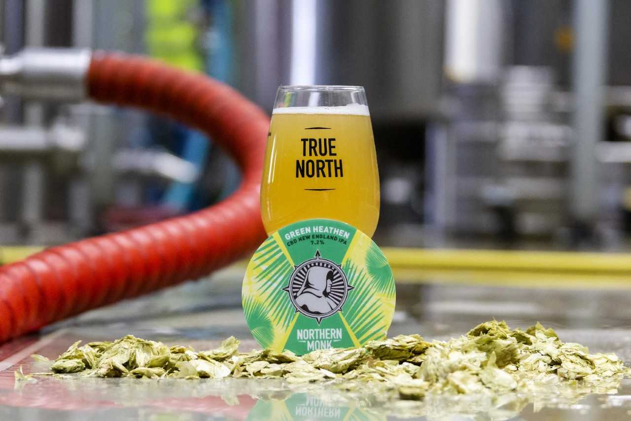 Green Heathen is a 7.2 per cent IPA containing CBD and its creators say it could have health benefits. Credit: Green Times Brewing