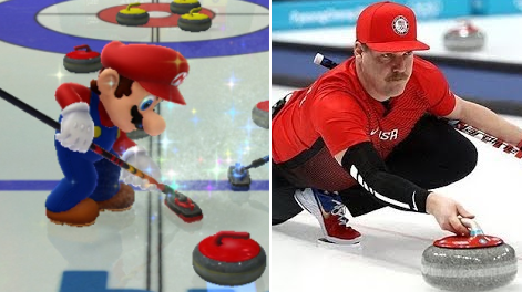 U.S Olympic Curler Is The Spitting Image Of Super Mario