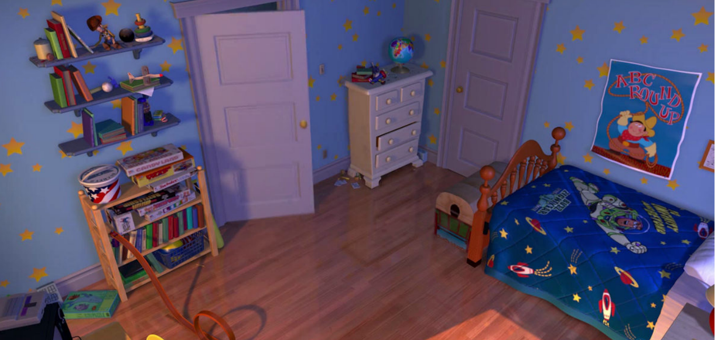 Each room will be modelled on Andy's bedroom. (Credit: Disney/Pixar)