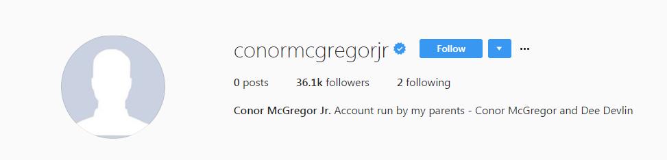 Figlio Conor McGregor