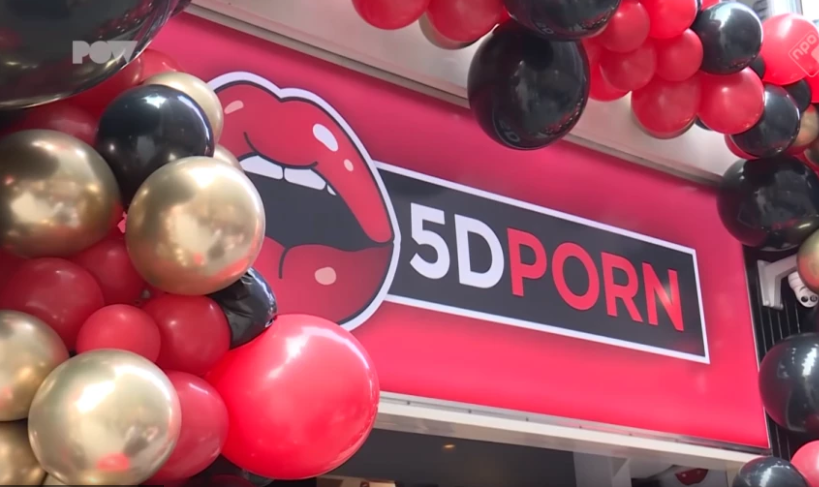 A new '5D' porn cinema has opened in Amsterdam. Credit: YouTube/PowNed
