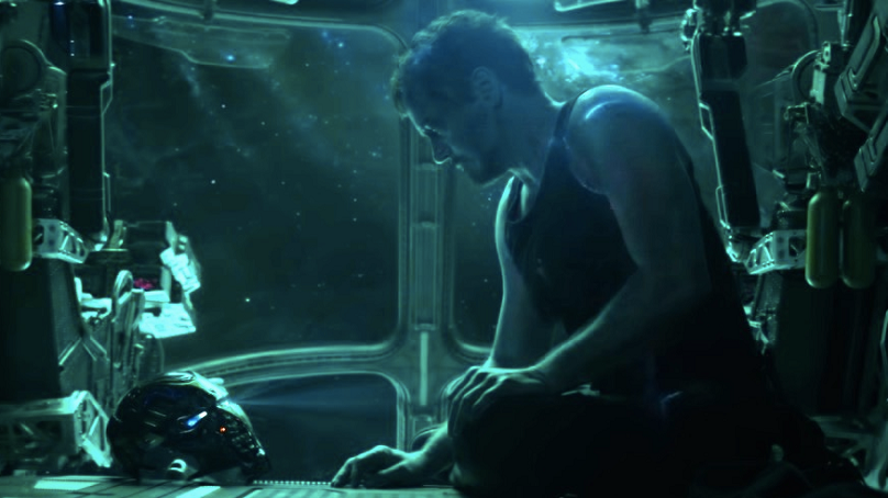 Iron Man adrift in space, in a scene from Avengers: Endgame. Credit: Marvel