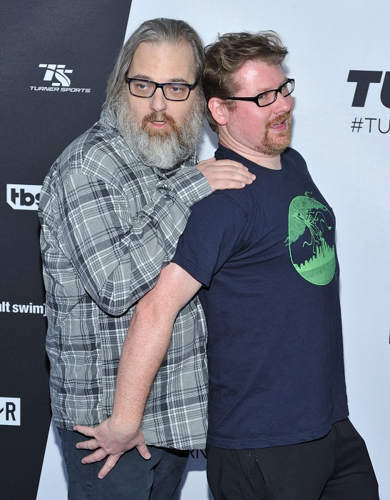 Dan Harmon and co-writer/producer Justin Roiland. Credit: PA