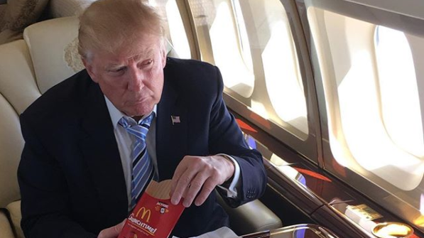 US President Donald Trump's Standard McDonald's Order Is Immense