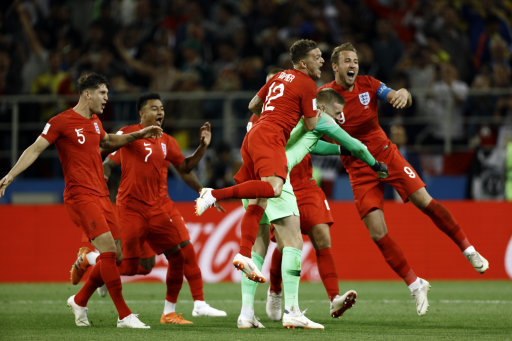 England won a World Cup penalty shootout for the first time. Credit: PA