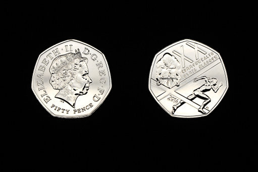 The 2012 Commonwealth Games coin can sell for up to £20 - £40 online. Credit: PA