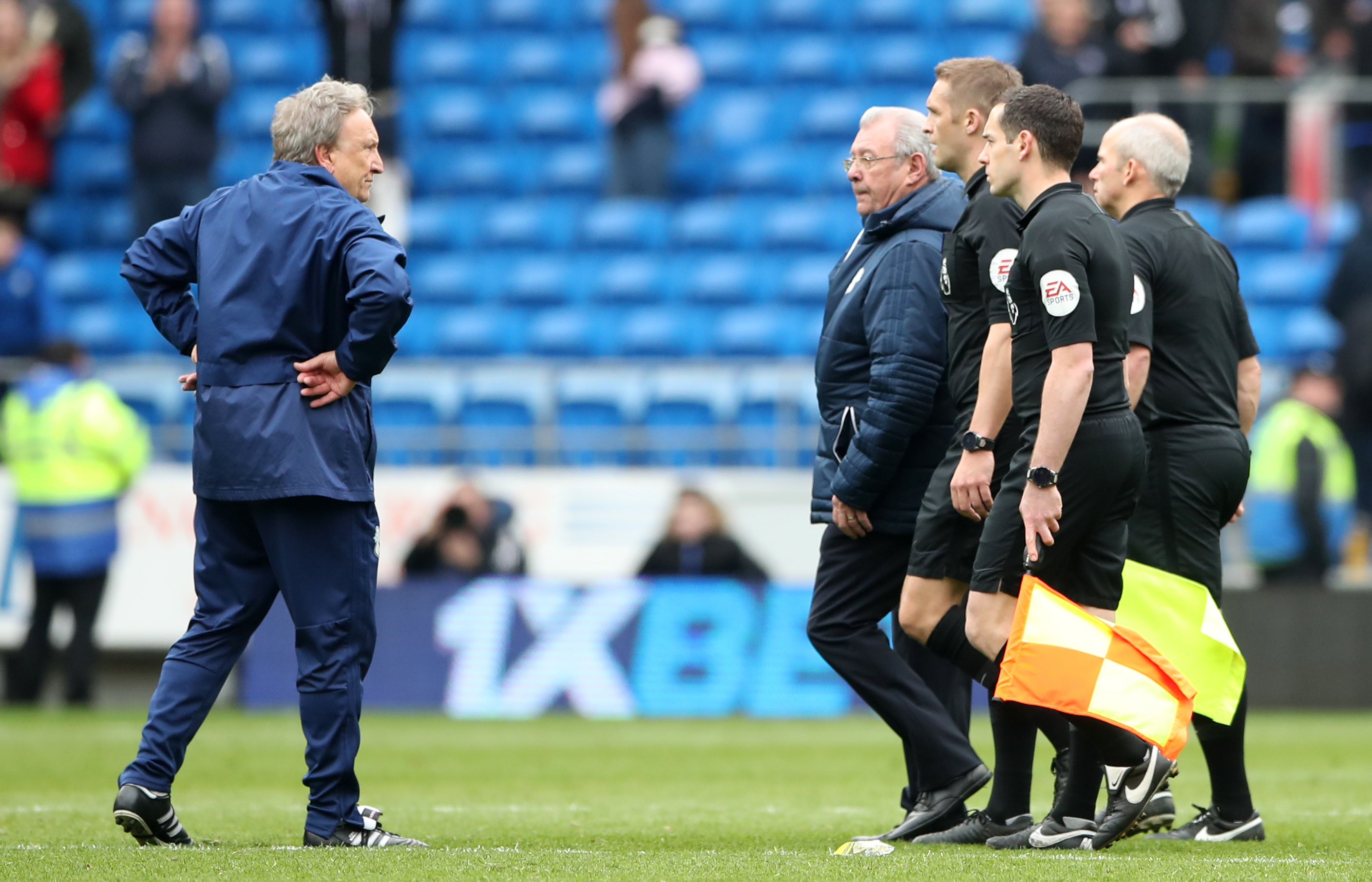 Warnock was not happy at all. Image: PA Images
