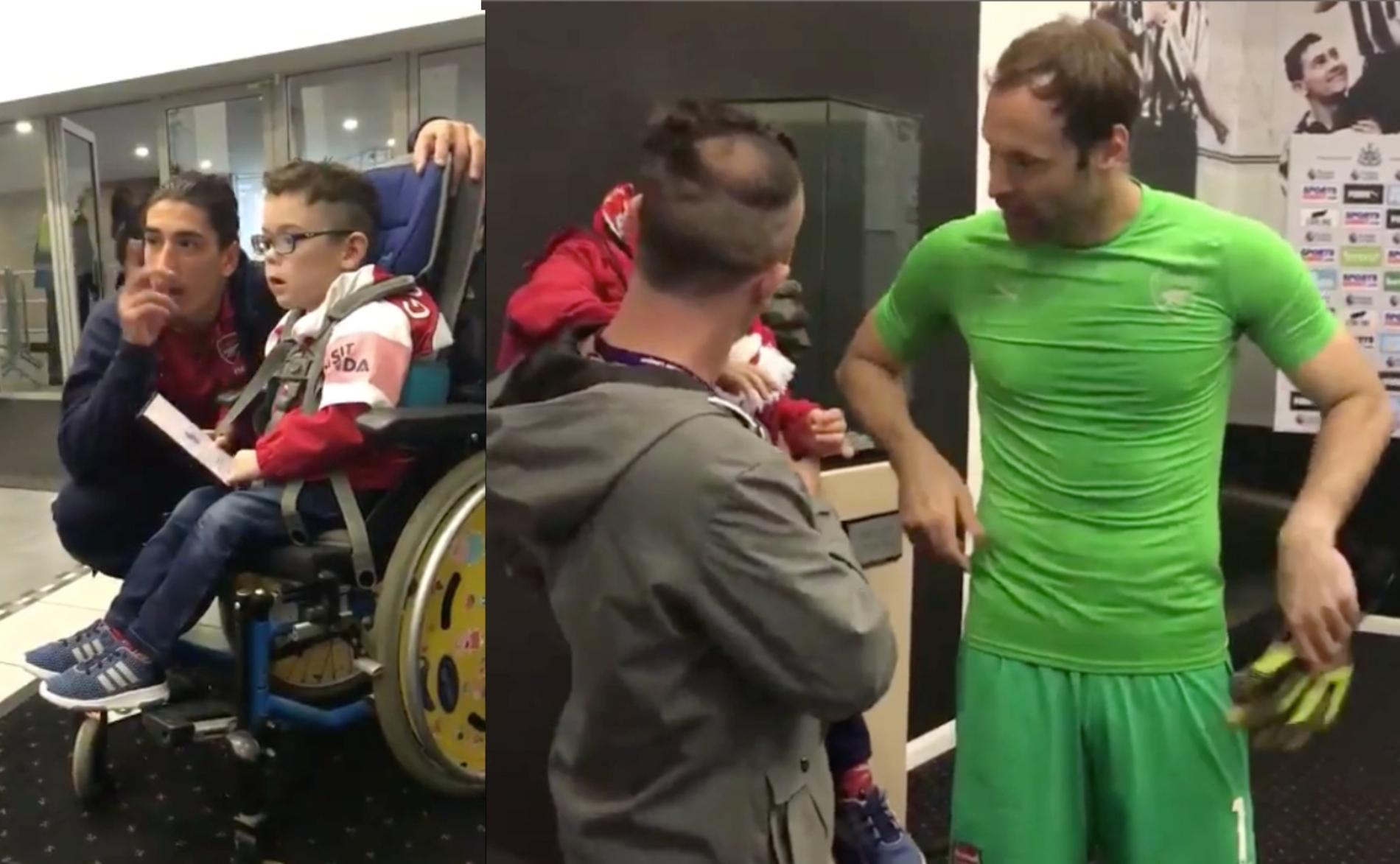 Arsenal Fan Meets His Hero Petr Čech In A Heart-Warming Meeting