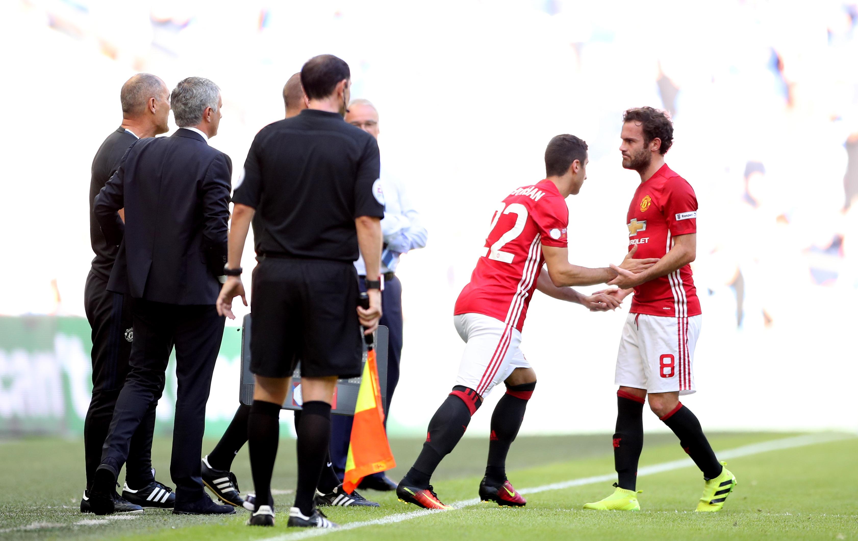 Image result for mkhitaryan and jose mourinho
