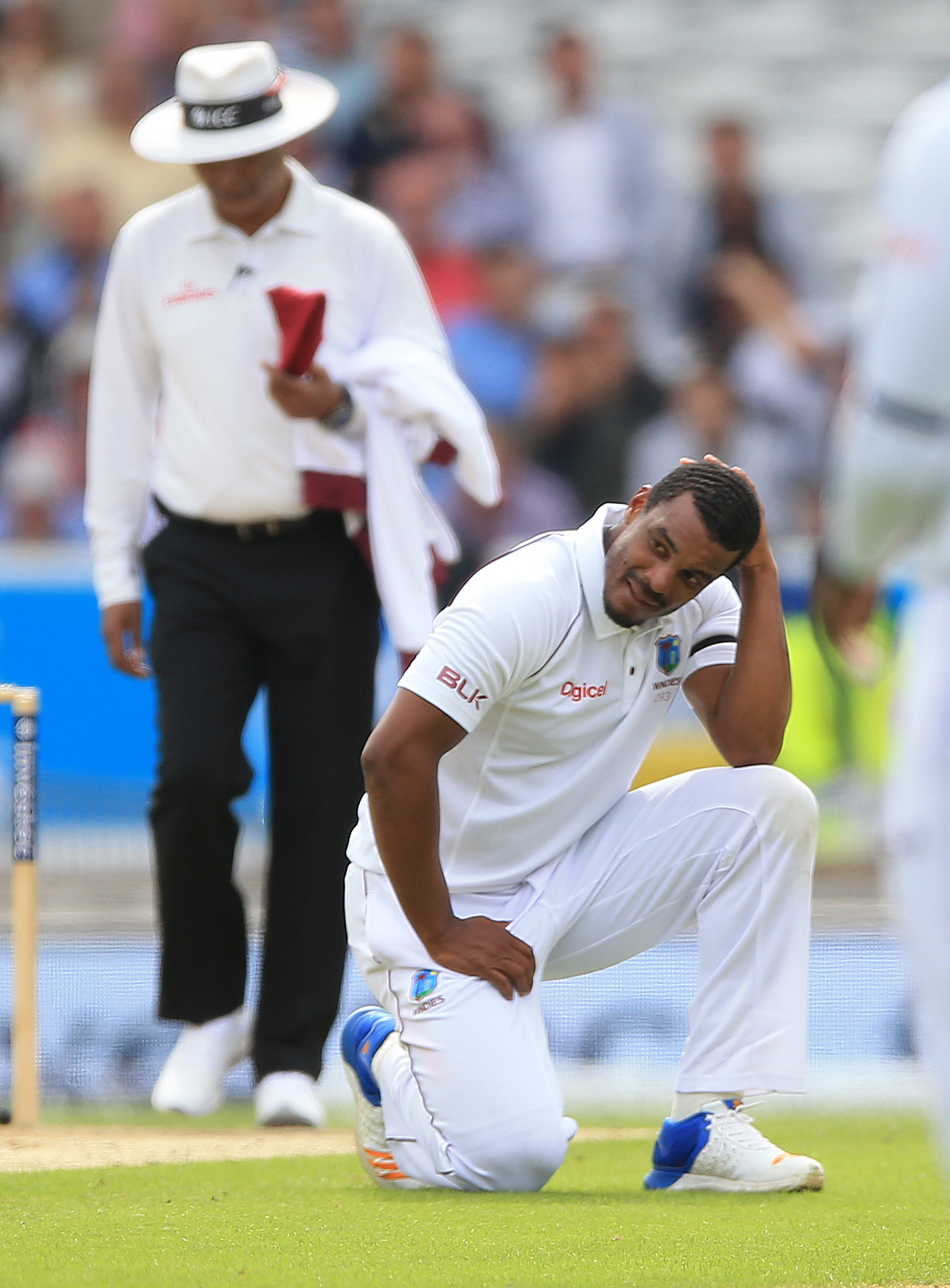 Bowler Gabriel was confronted by the England captain but no formal complaint was made about his language. Credit: PA