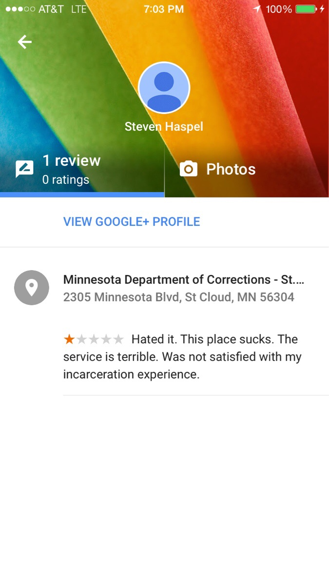 A review of a prison...