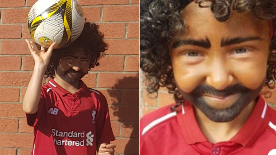 9-Year-Old Liverpool Fan Controversially Dresses Up As Mo