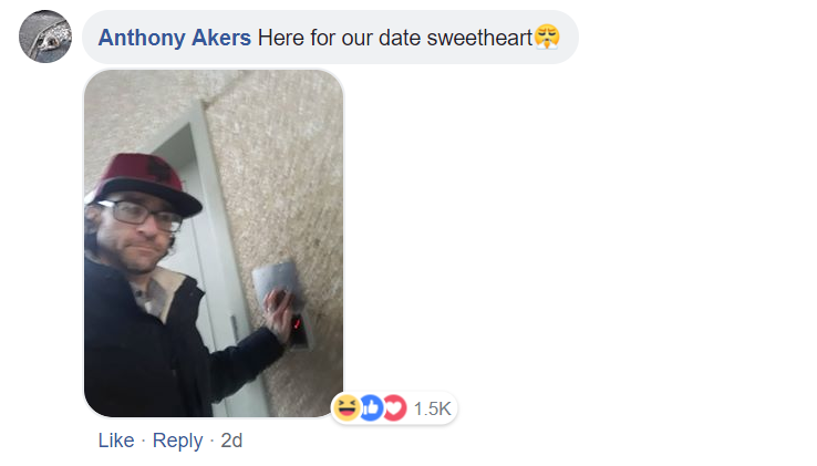 Akers was involved in a bizarre exchange with the police, before eventually handing himself in. Credit: Facebook/Anthony Akers