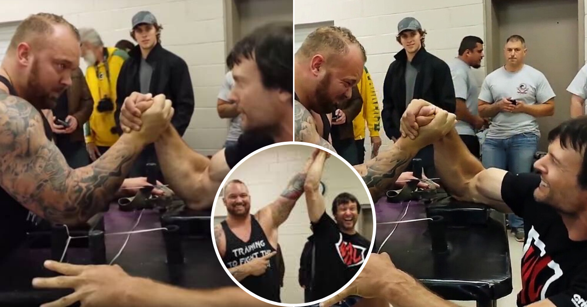 The Mountain Suffered A Devastating Arm Wrestling Defeat To A Man Half His Size Sportbible