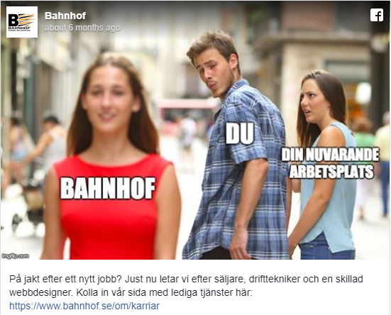 Swedish Advertising Watchdog Rules 'Distracted Boyfriend Meme' Sexist