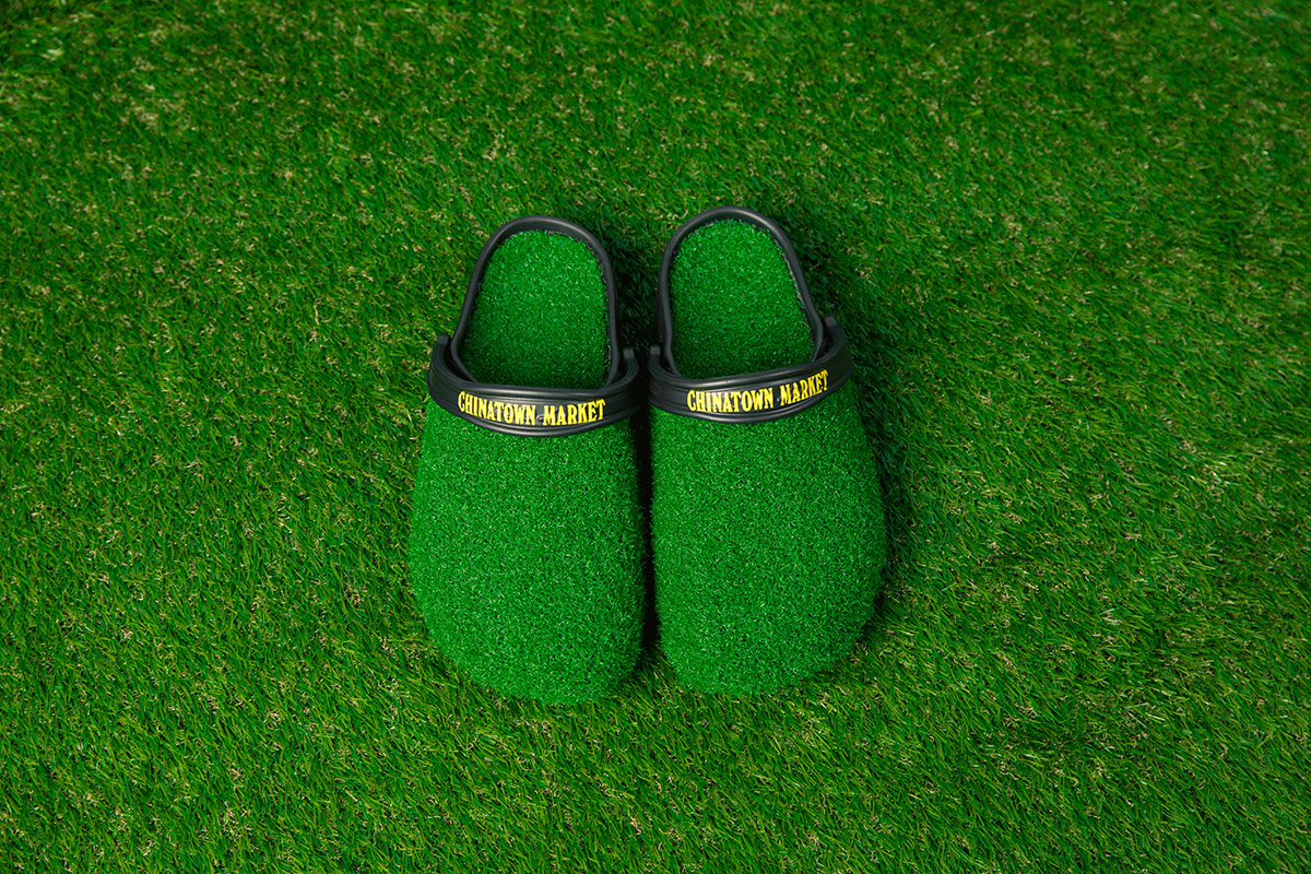 Grass-covered Crocs. Credit: Chinatown Market
