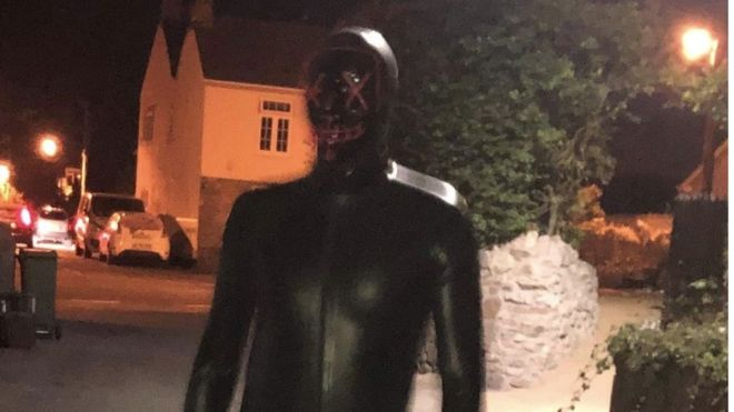 Gimp suit man: Arrest over grunter attacks in Somerset village