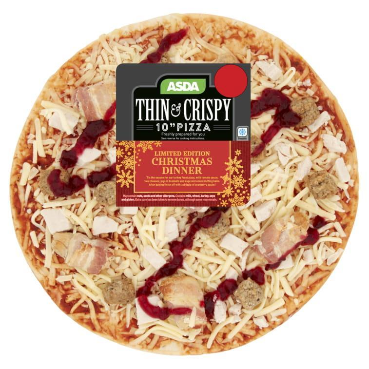 The festive pizza is just £2.30 for a 10 inch. (Credit: Asda)