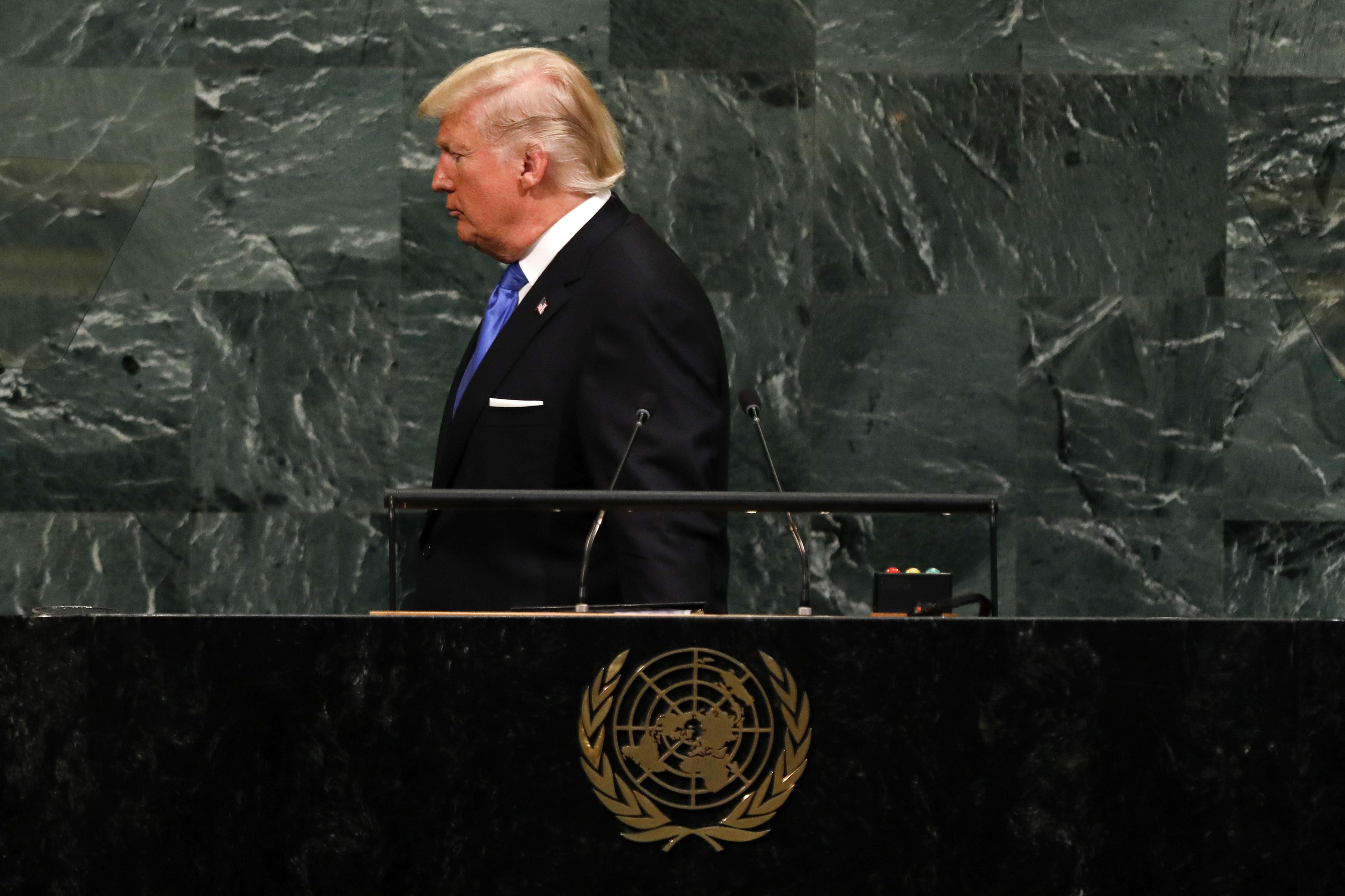 US President Donald Trump. Credit: PA