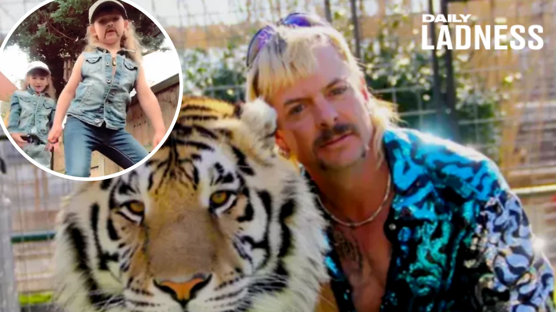 Sisters Aged 6 And 8 Smash Tiktok Tiger King Trend Ladbible