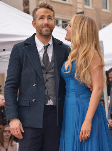 Masters of the art, Blake Lively and Ryan Reynolds. Credit: PA