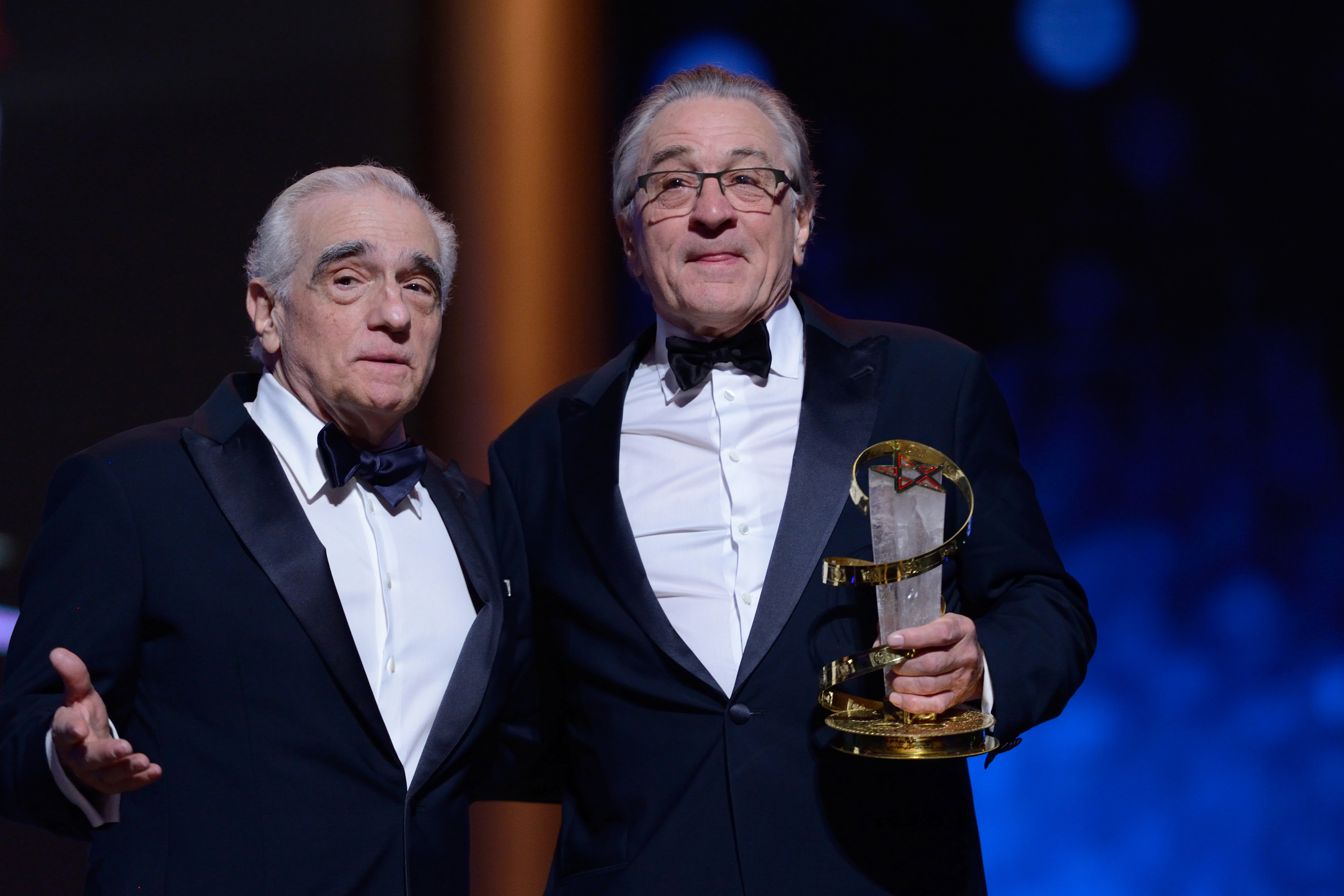 Martin Scorsese and Robert De Niro, back together on Netflix. Credit: PA