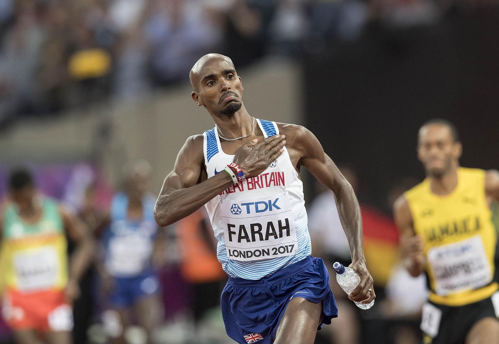 Mo Farah racing