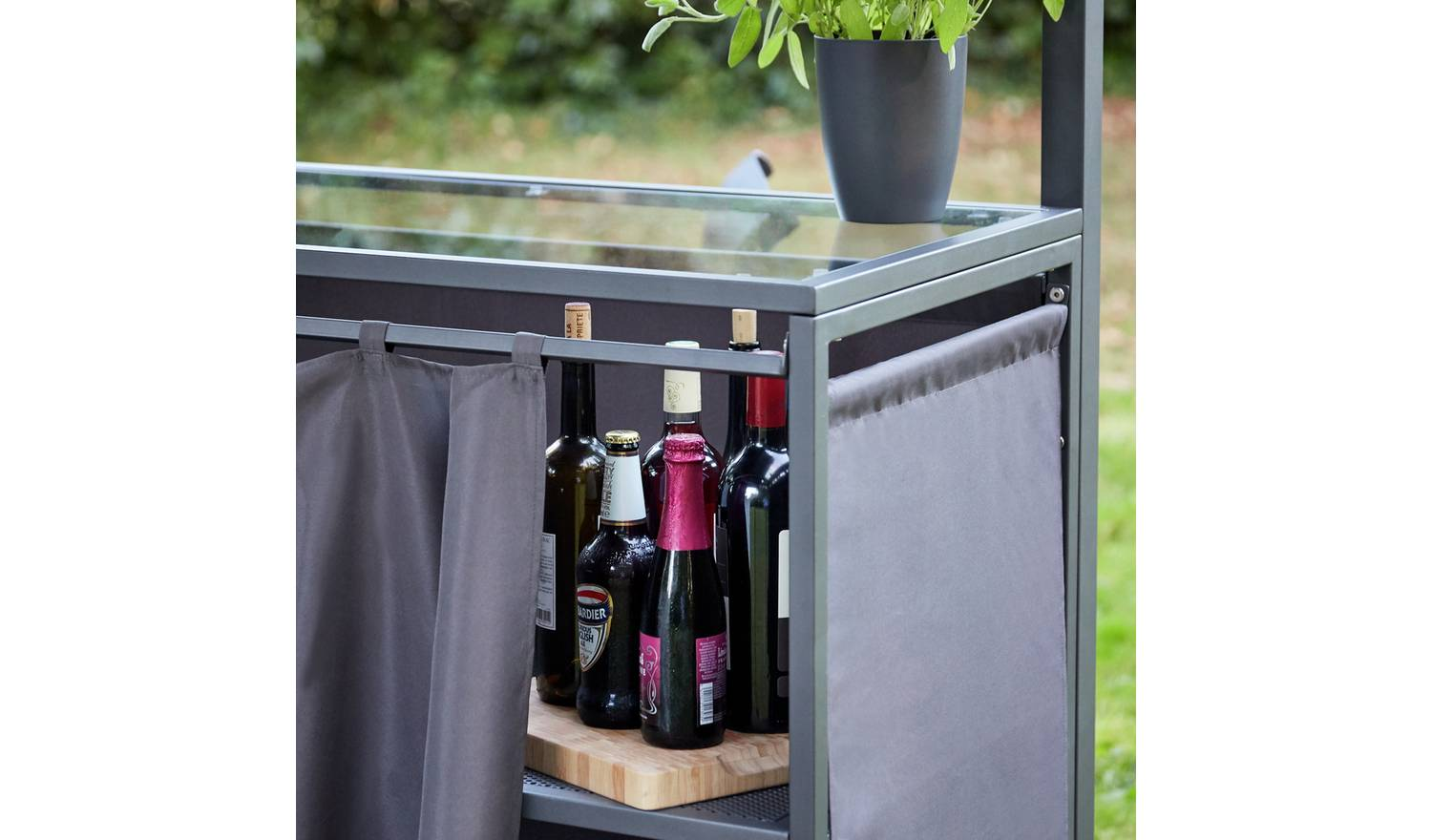 A curtain keeps your bevs a secret. Nobody will know it's not branded. Credit: Argos