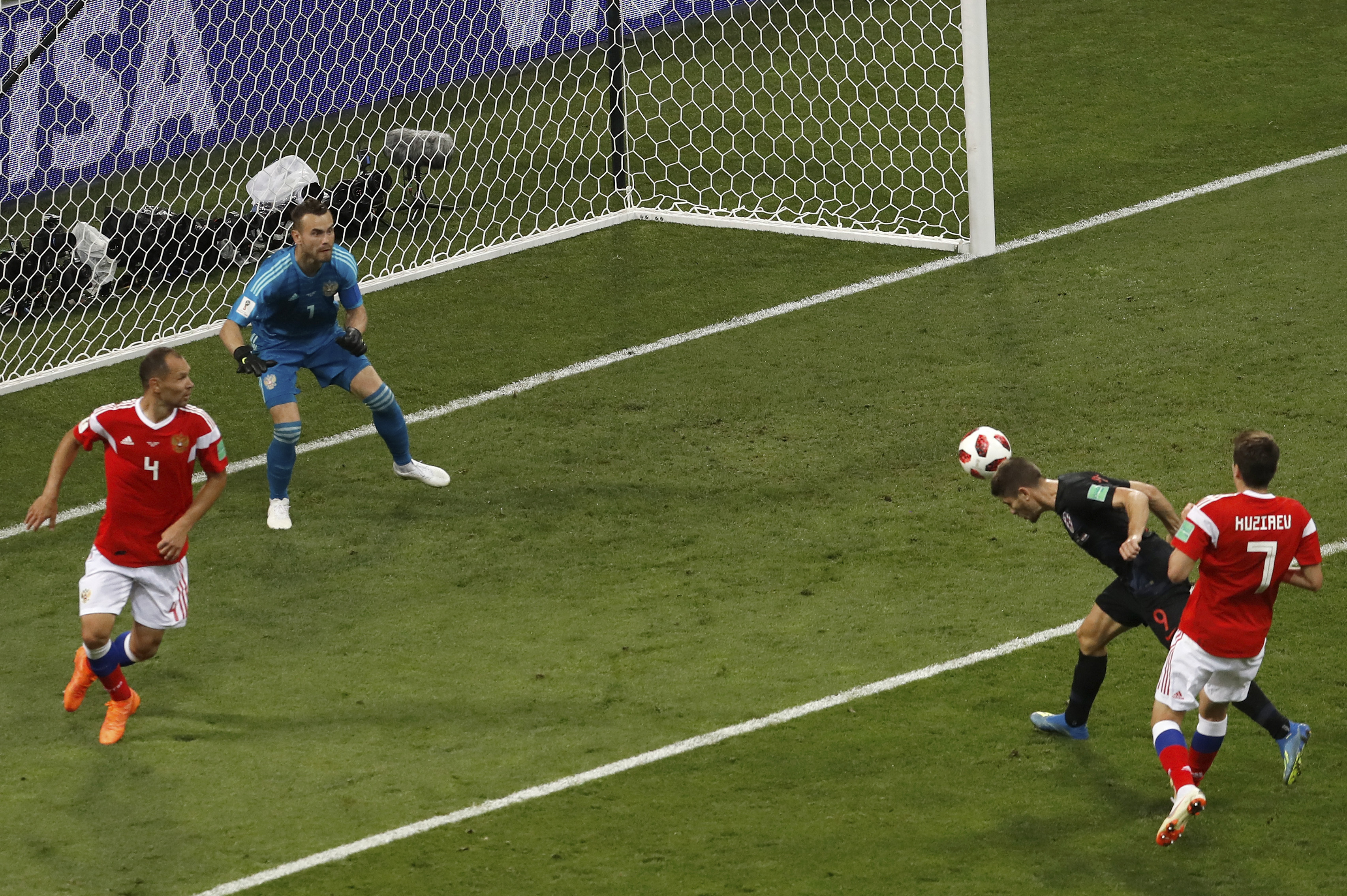 Andrej Kramarić's goal against World Cup hosts, Russia. Credit: PA