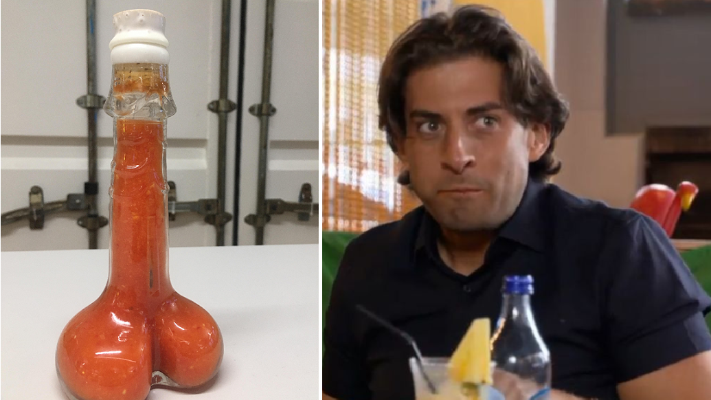 Hot sauce on your cock