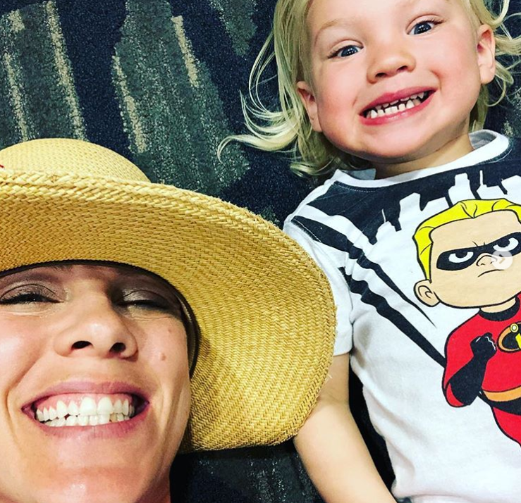 Pink with son Jameson. Credit: Pink/Instagram