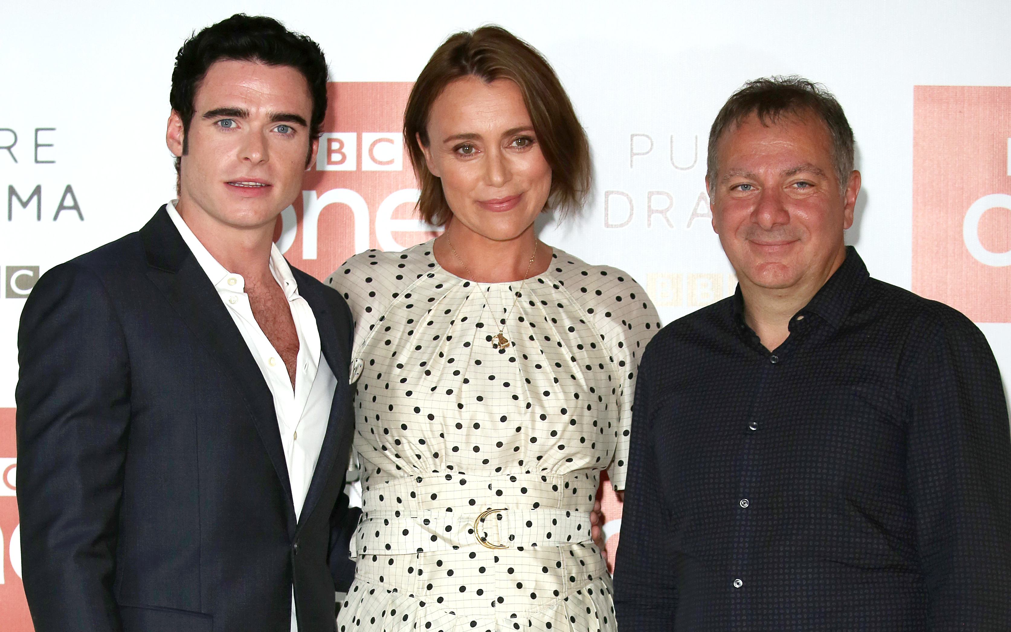 Bodyguard's Richard Madden, Keeley Hawes, and Jed Mercutio. Credit: PA