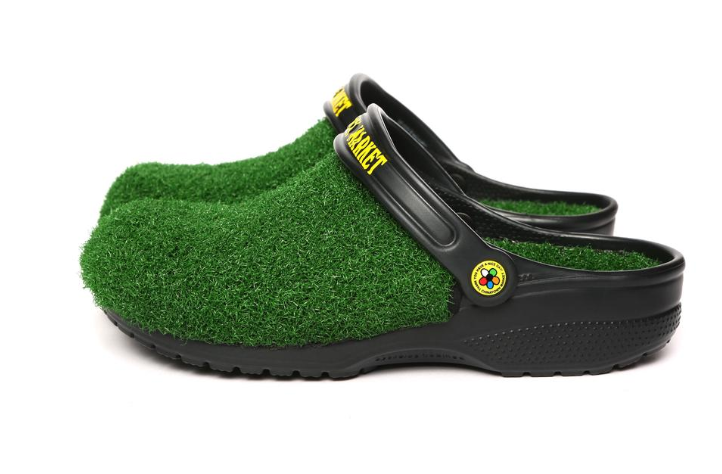 Astro turf Crocs, for that 'walking on grass' feeling. Credit: Chinatown Market/Crocs