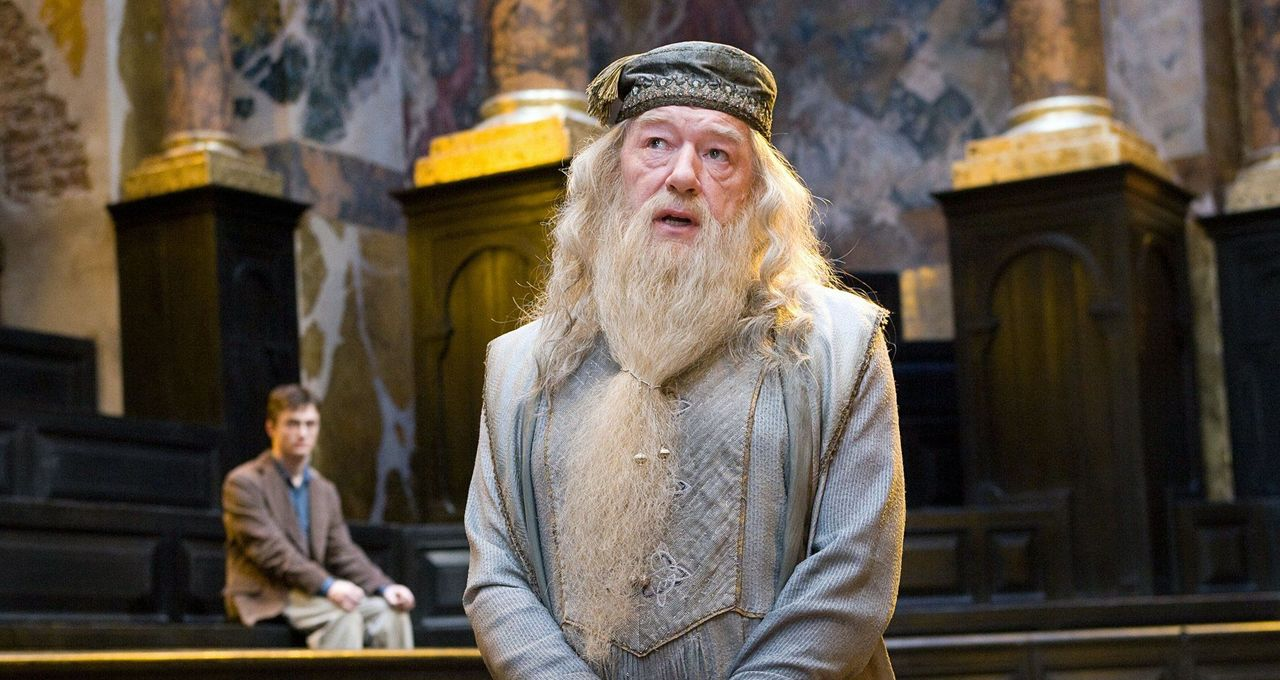 Professor Dumbledore from the little-known Harry Potter series. Credit: Warner Bros
