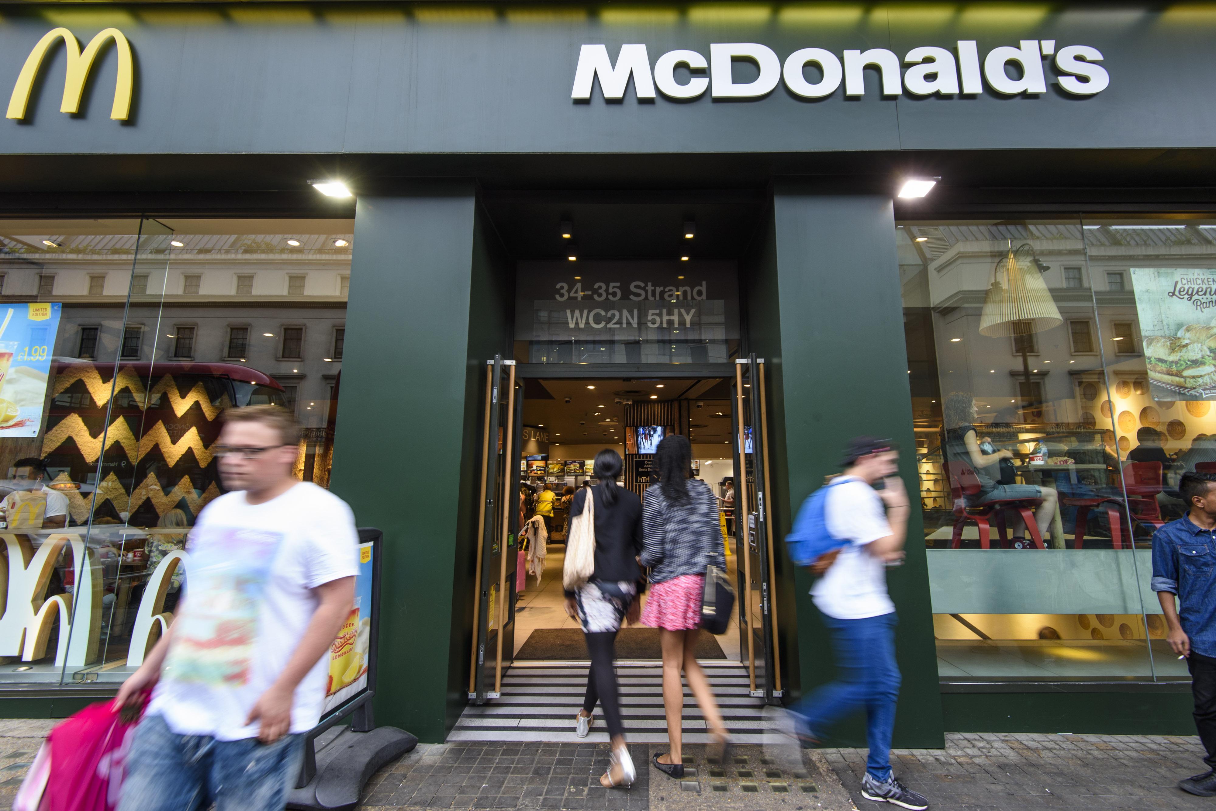 A McDonald's restaurant. Credit: PA